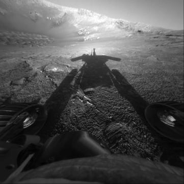 One of NASA's highlighted photos from Oppy.
